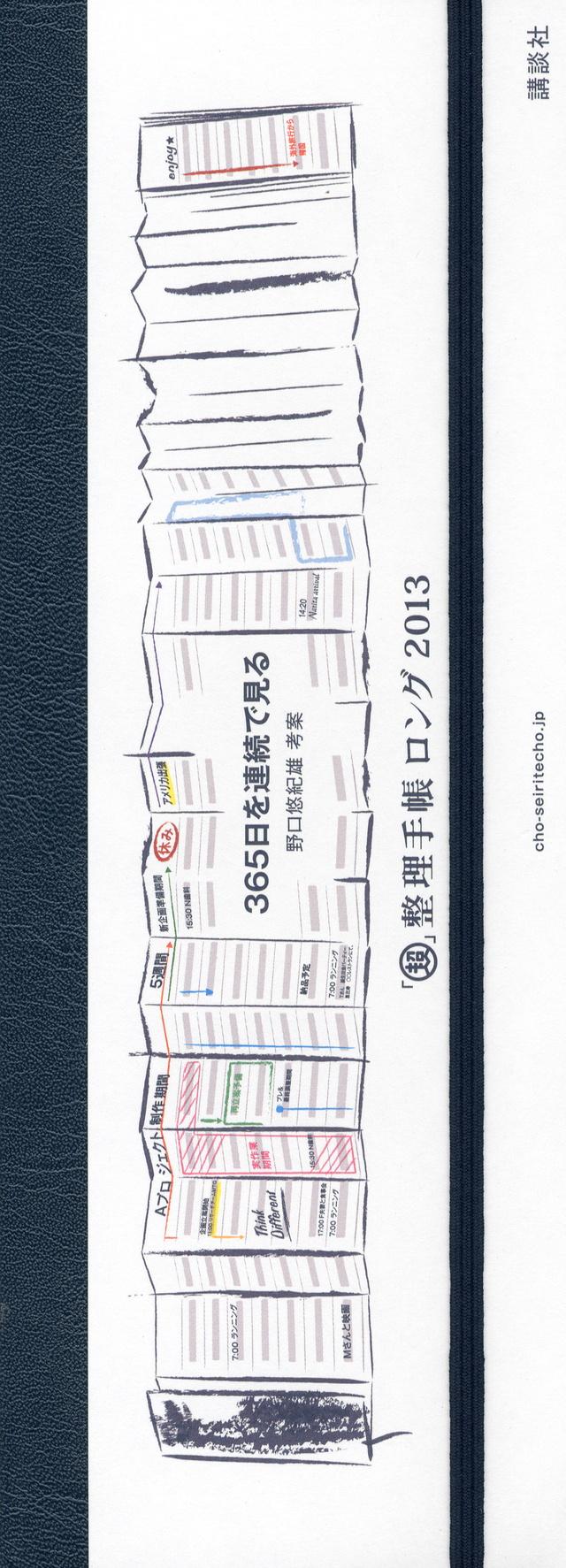 「超」整理手帳 ロング2013 365日を連続で見る